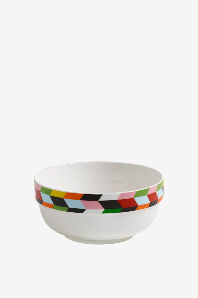 Abstraction Bowl Arrow 15cm, White Combo