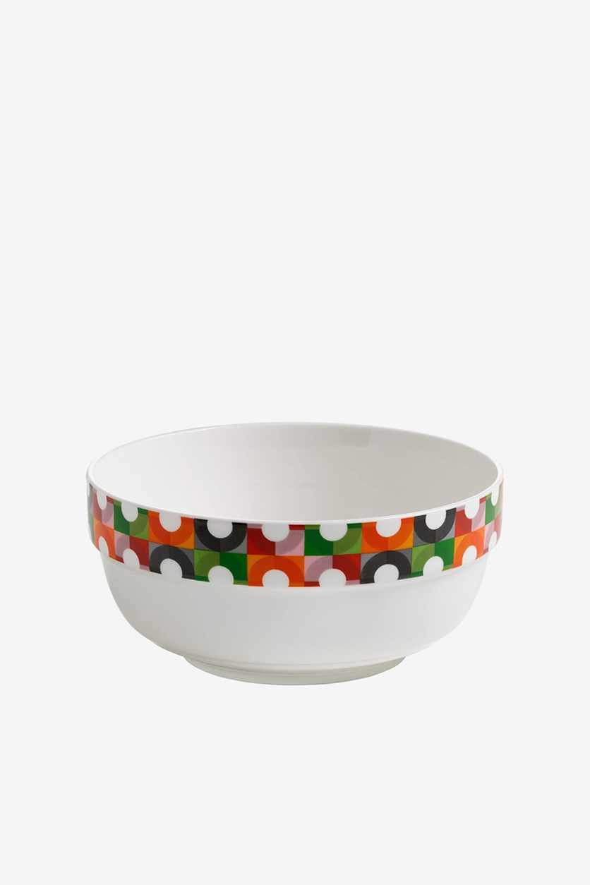 Abstraction Bowl, White Combo