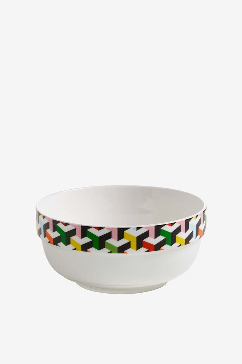 Abstraction Bowl Cube, White Combo