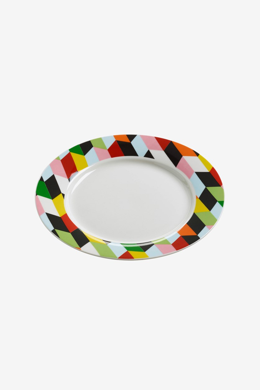 Abstraction Plate Arrow 20cm , Ivory Combo