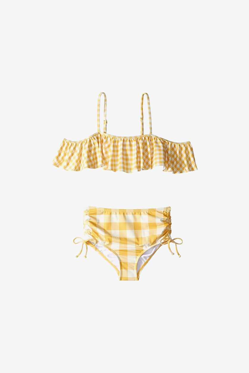 Kids Girls So Golden Ruffle Two-Piece Set, Sunflower