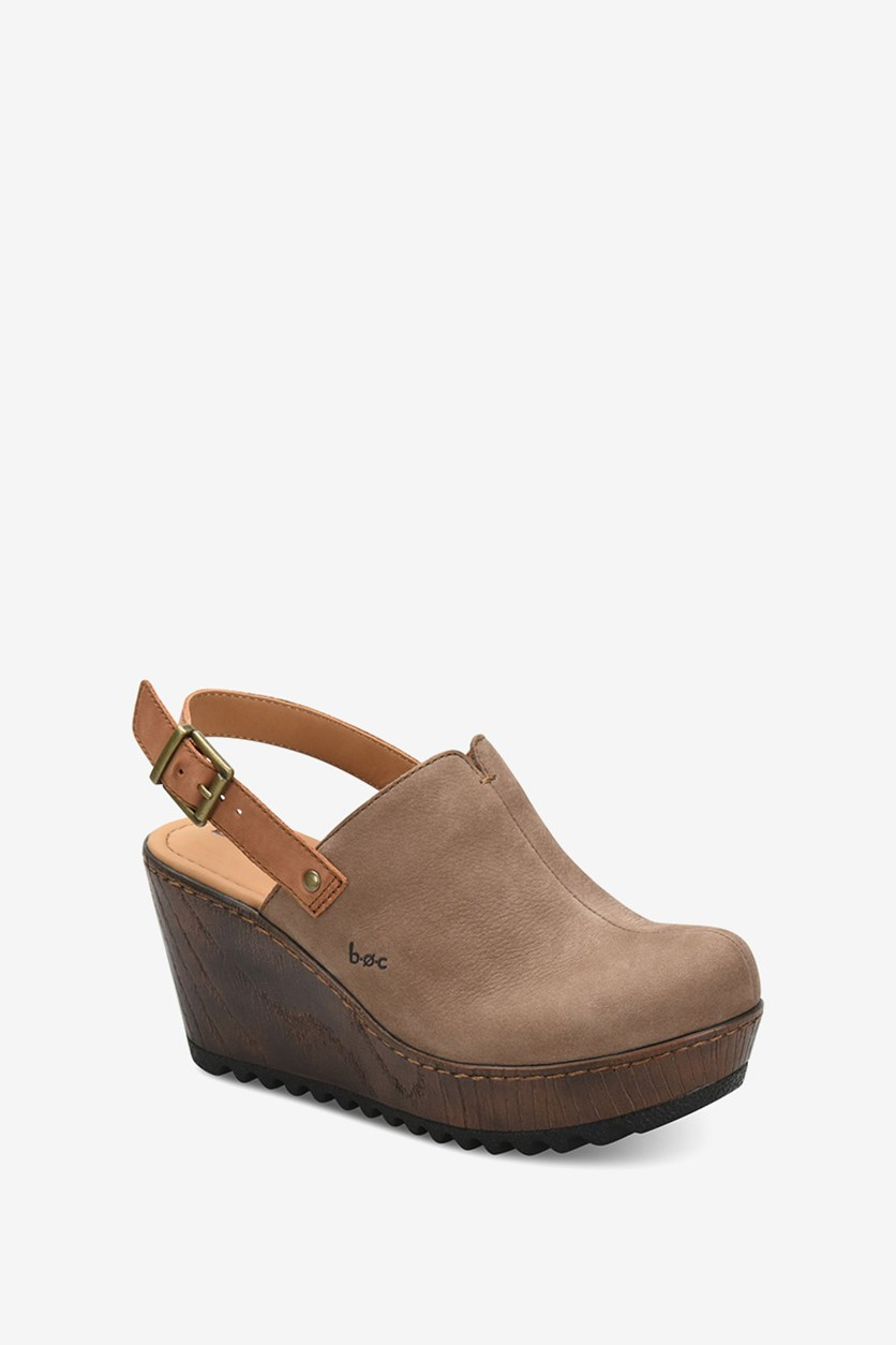 Women's May Clogs Wedge, Taupe