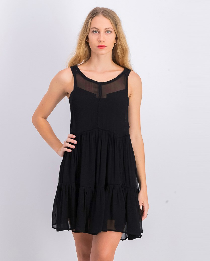 Women's Woven Dress, Black