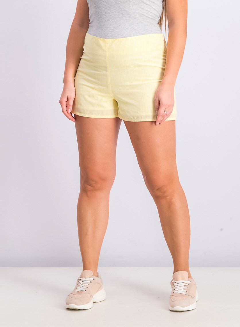 Women's Checkered Short, Yellow