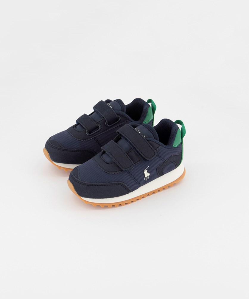 Toddlers Boy's Richardson Velcro Closure Shoes, Navy/Green
