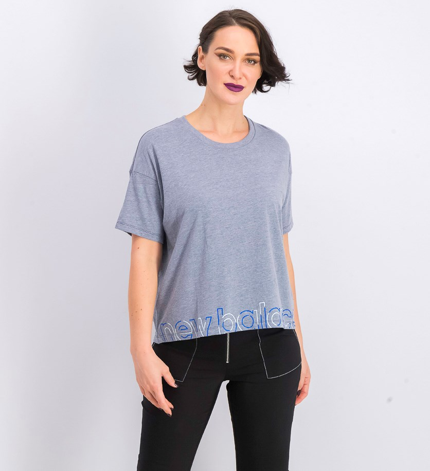 Women's Printed T-Shirt, Heather Blue