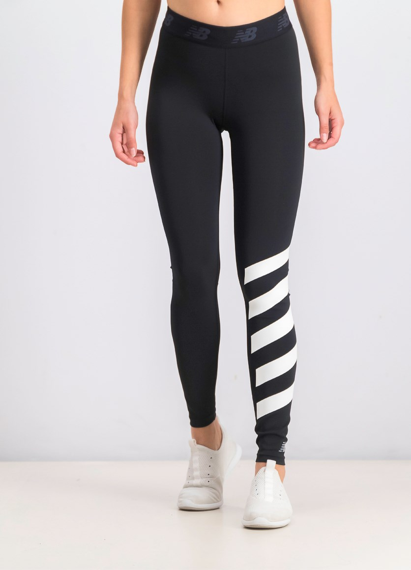 Women's Printed Accelerate Tight, Black