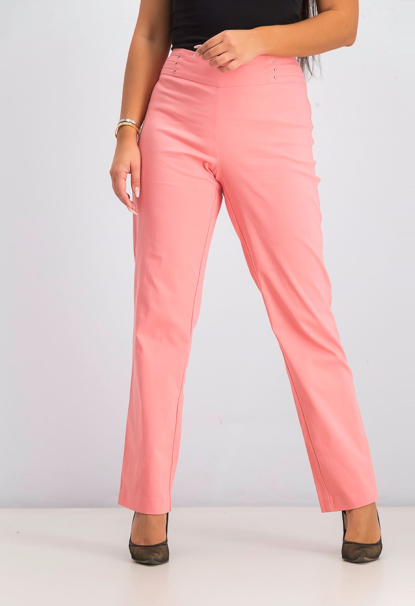 Women's Pull-on Pants, Coral Shell