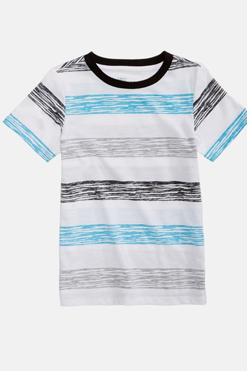 Toddlers Boys Neptune Striped Shirt, Bright White