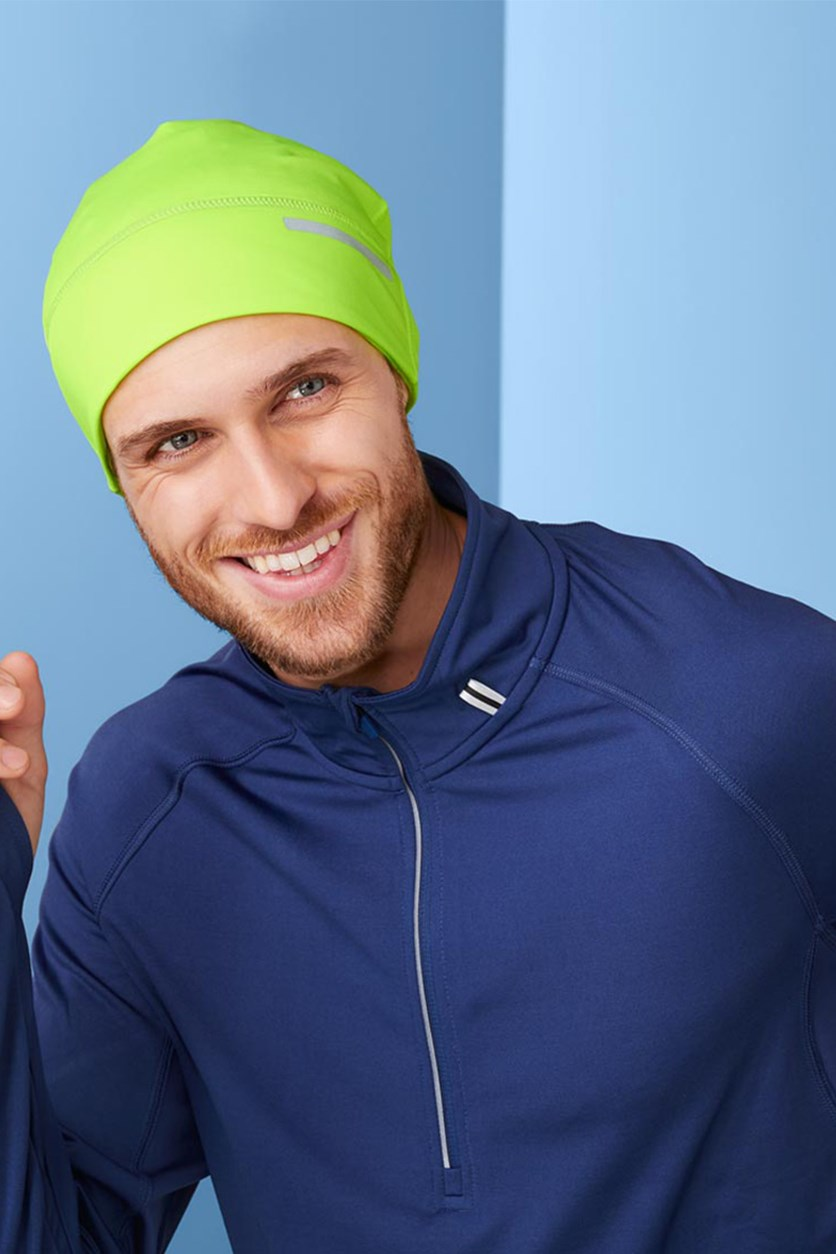 Contrasting Cap With Reflector, Neon Yellow