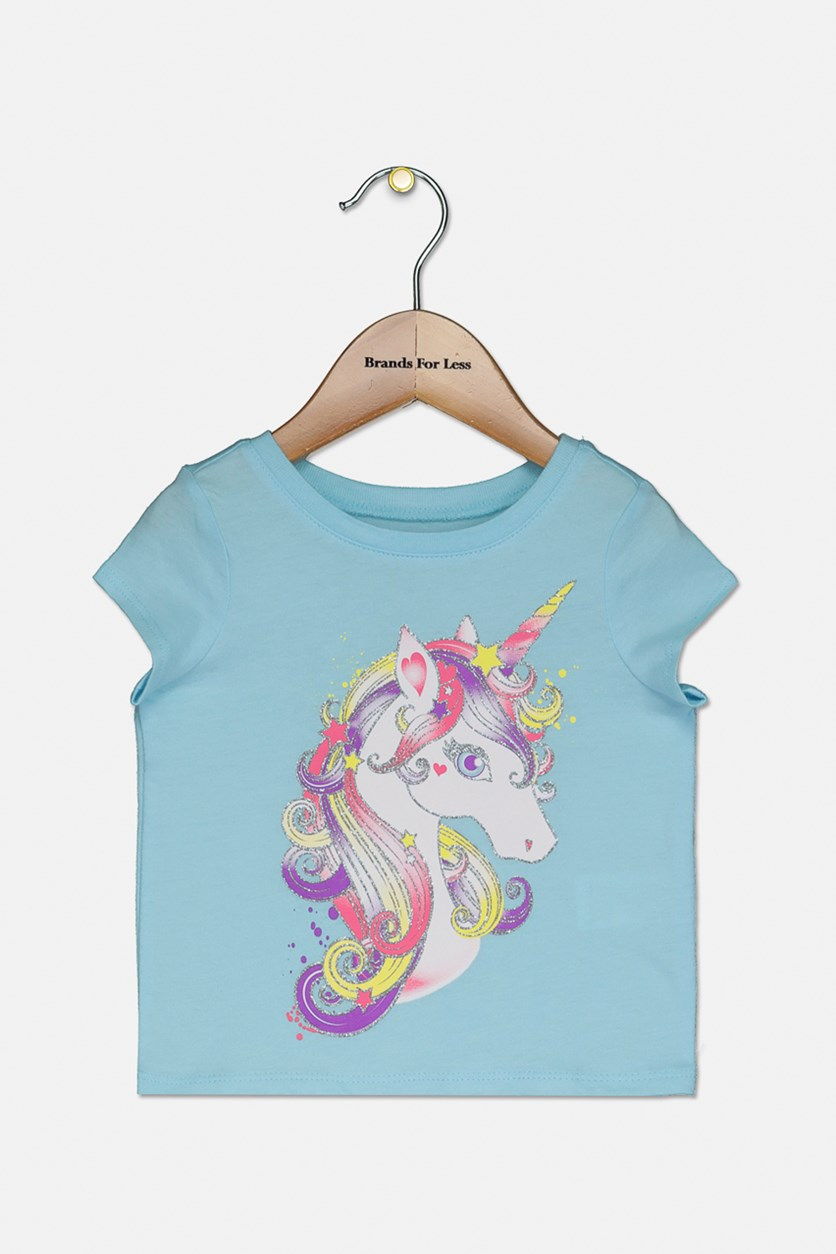 Toddlers Graphic Print Tee, Seagrove Blue
