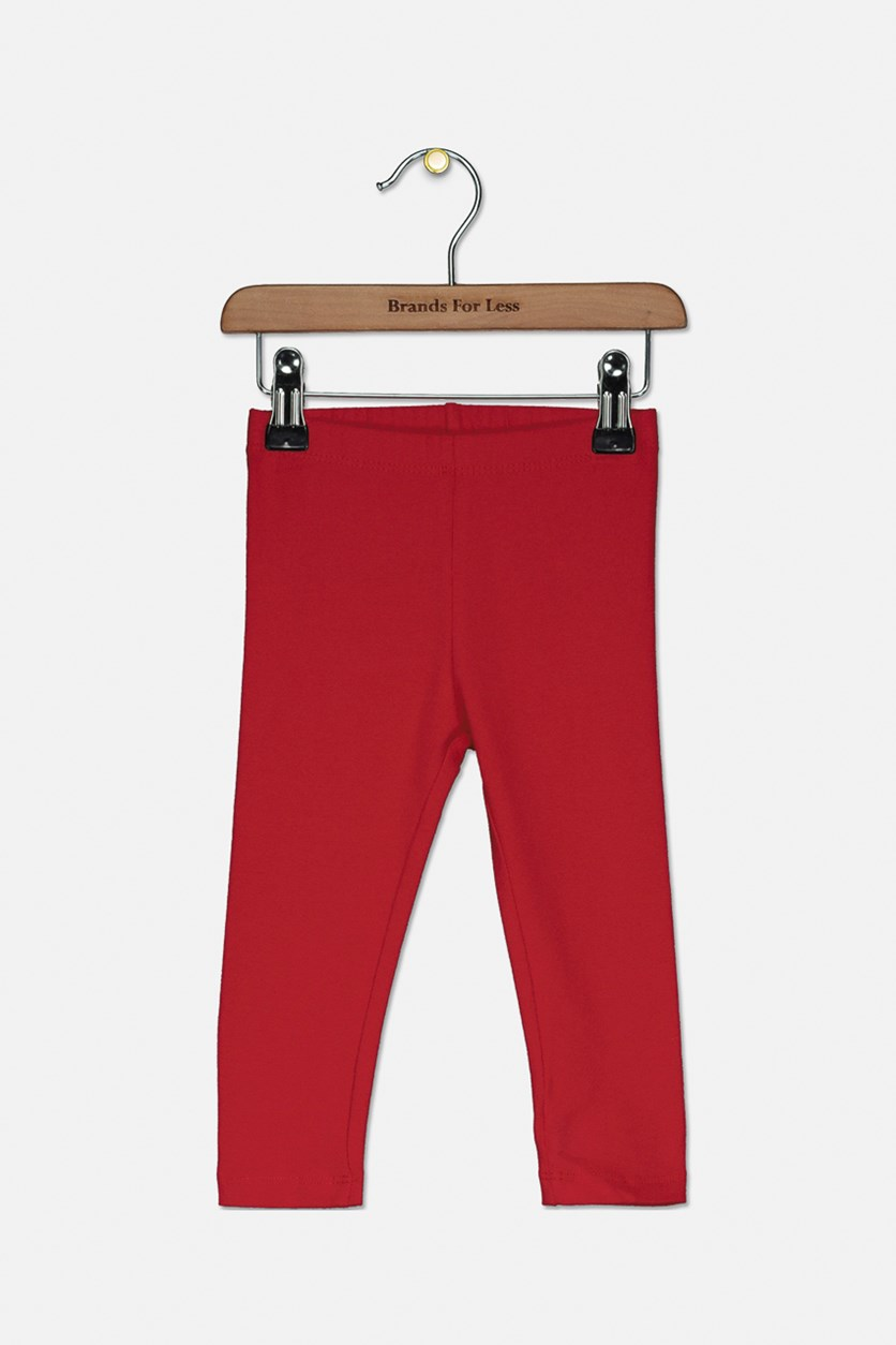 Toddlers Plain Pants, Ruby Red