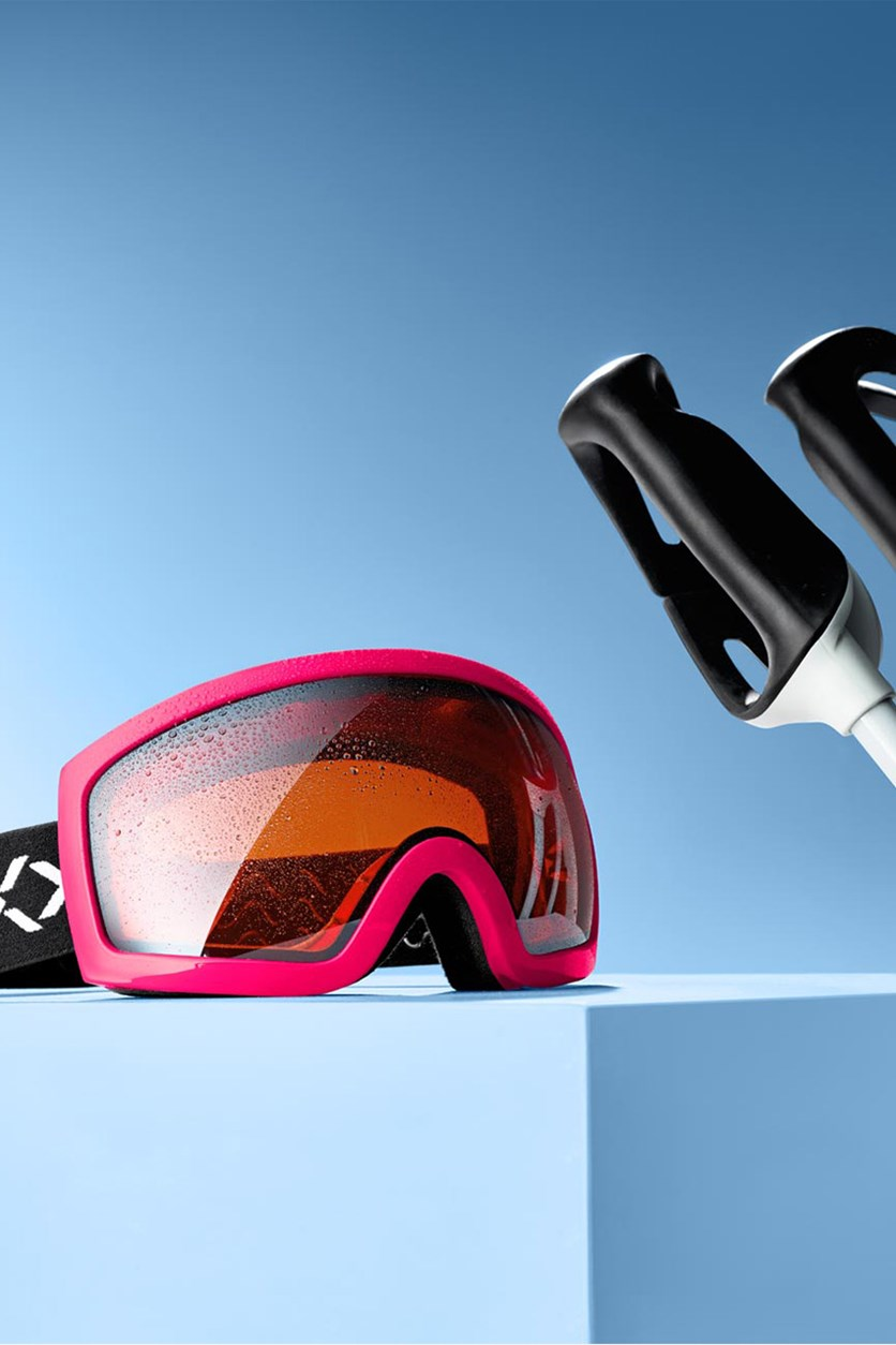 Ski And Snowboard Goggles, Pink/White/Black