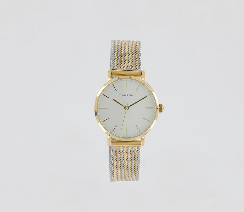 Ladies Milanese Strap Watches, Gold/Silver