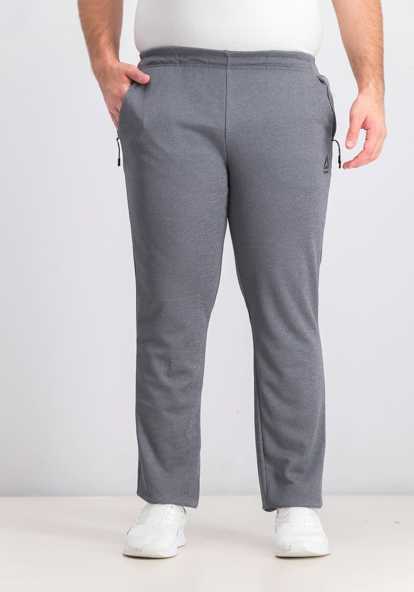 Men's Delta Knit Track Pants, Dark Grey Heather