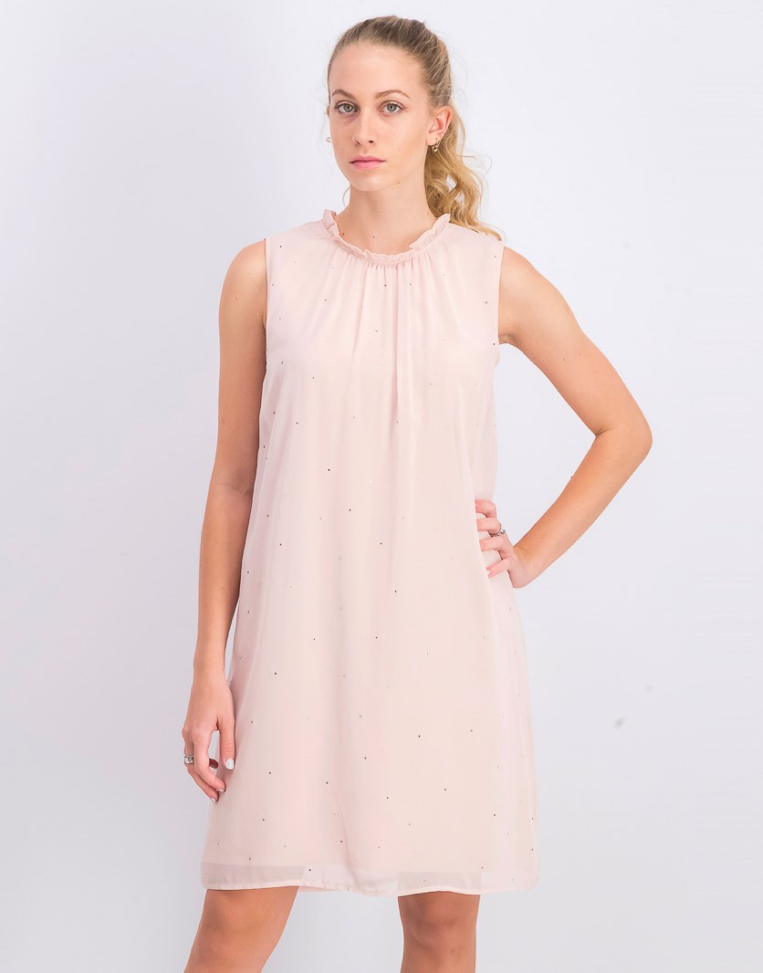 Womens Textured Dress, Blush