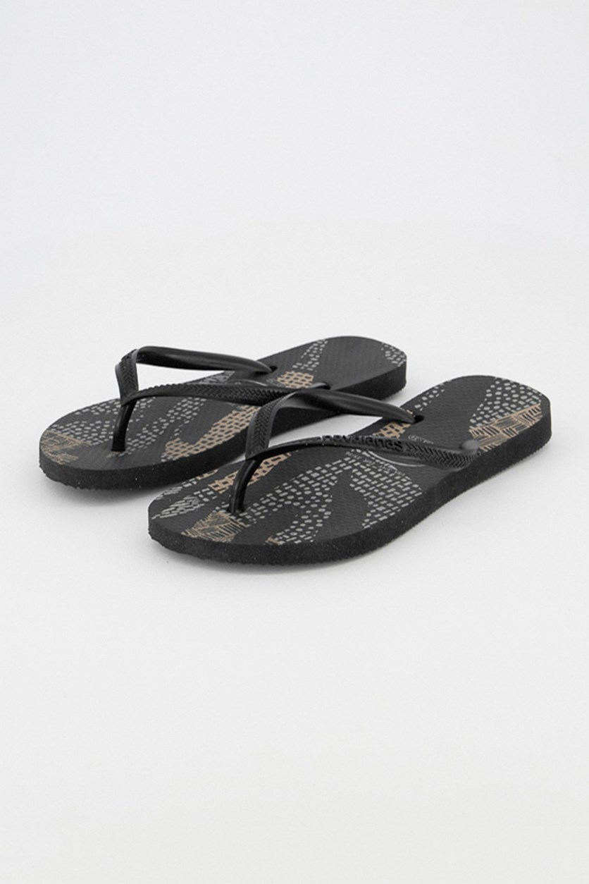 Kids Girls Native Slippers, Black