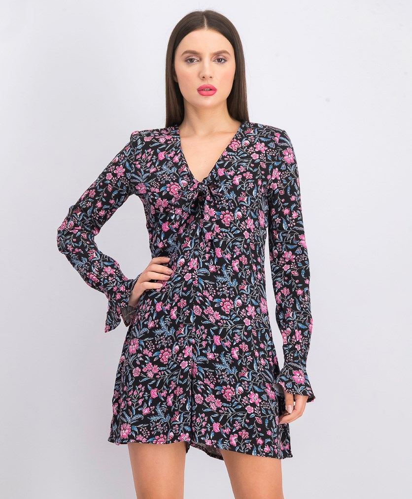 Women's Floral Printed Playsuit, Black Combo