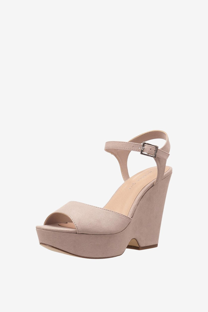 Women's Cena Wedge Sandals, Taupe