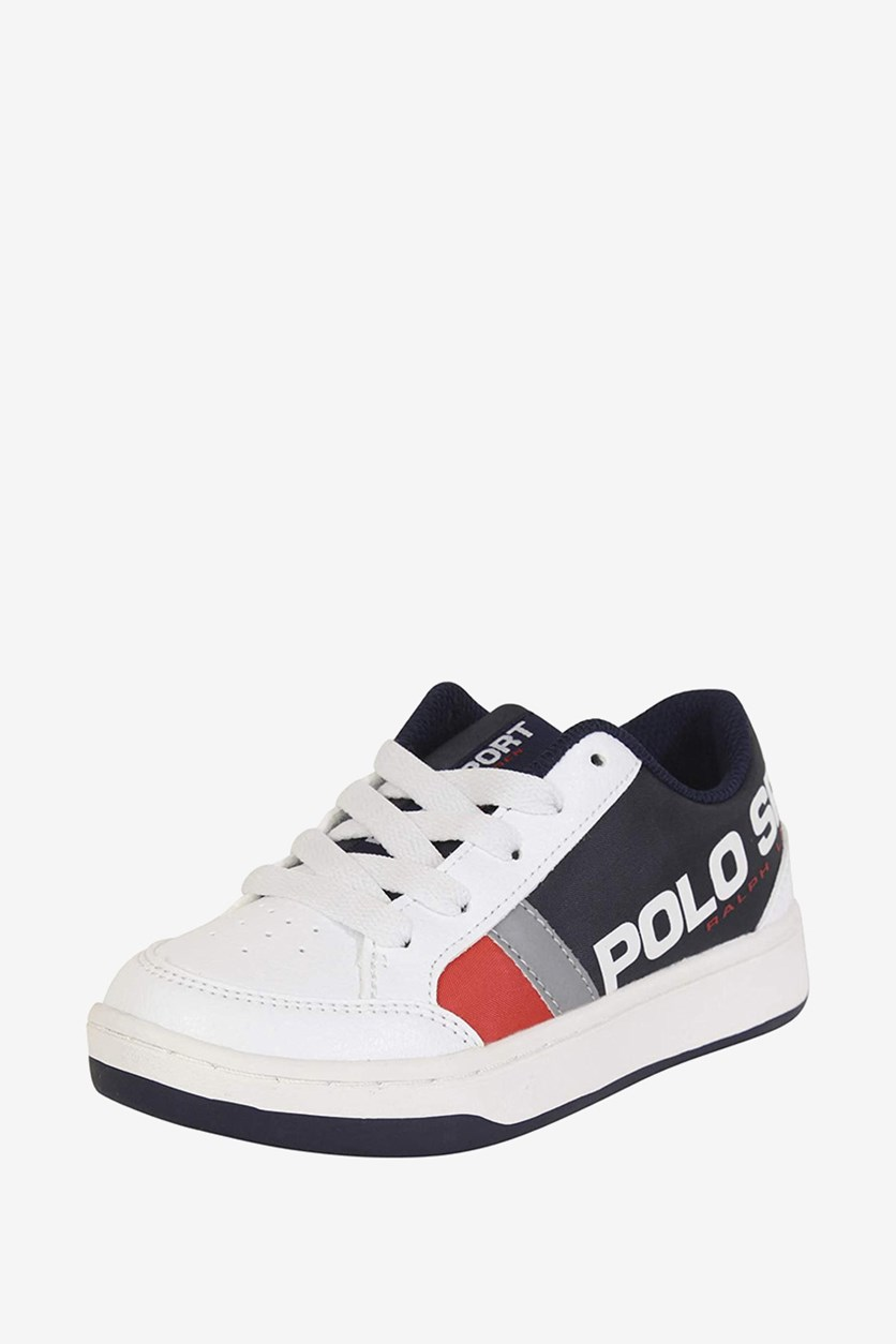 Boy's Belden Casual Shoes, White/Navy/Red