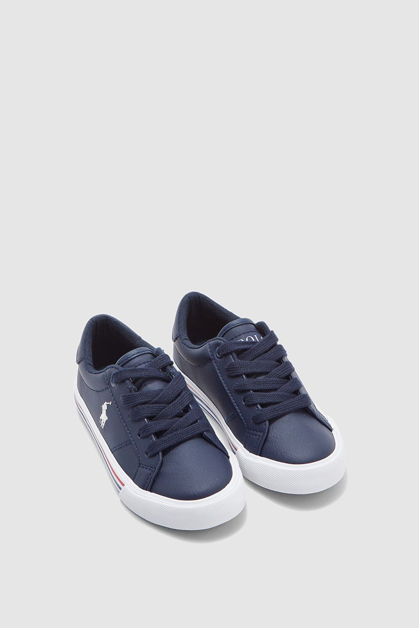 Boy's Edgewood Casual Sneakers, Navy/Paper White