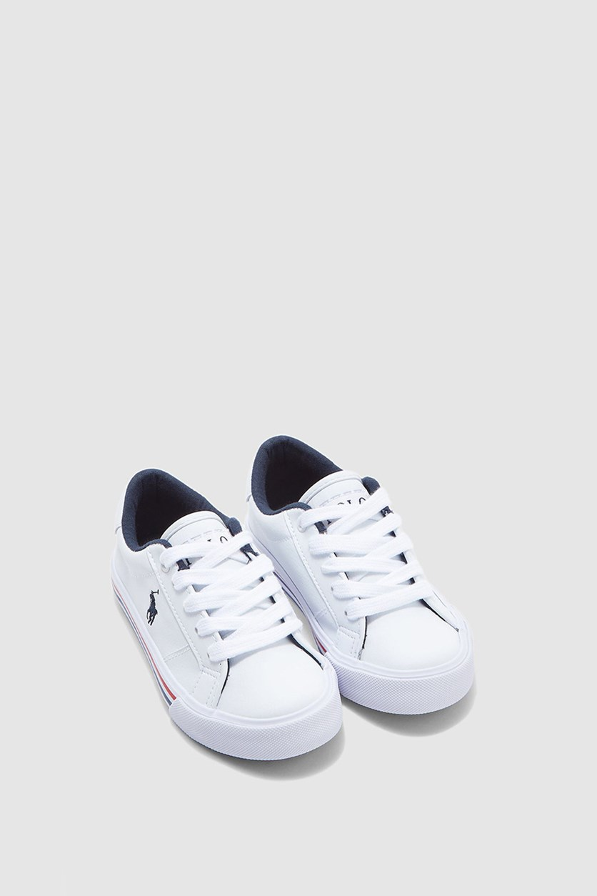 Boy's Edgewood Casual Sneakers, White/Navy