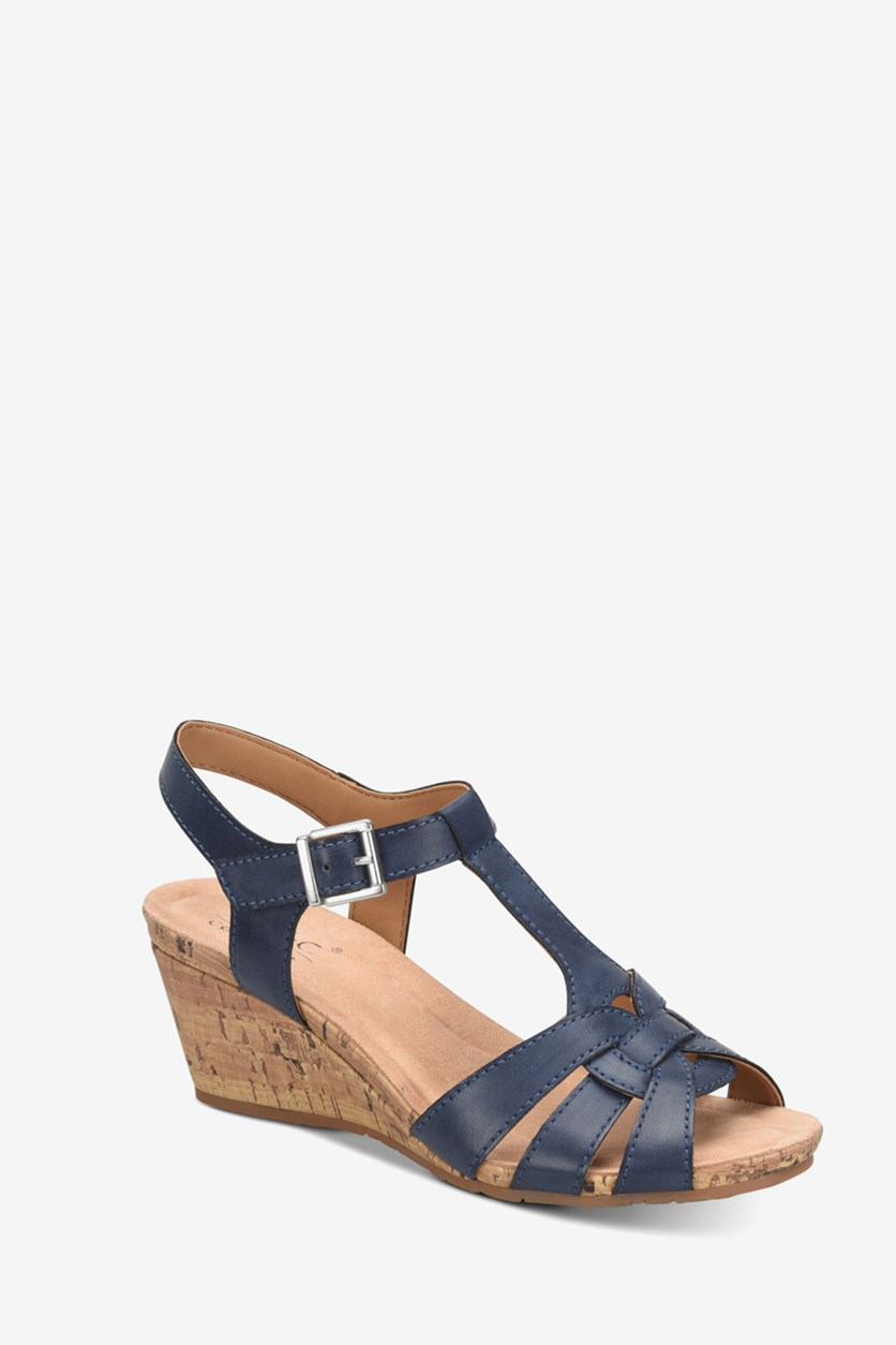 Women's Jaquet Wedge Sandal, Navy