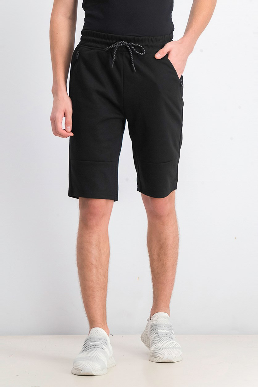 Men's Drawstring Tech Fleece Short, Black