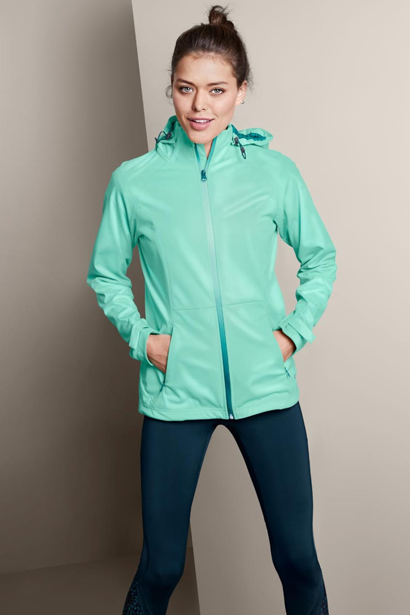 Women's Lightweight Soft Shell Jacket, Turquoise