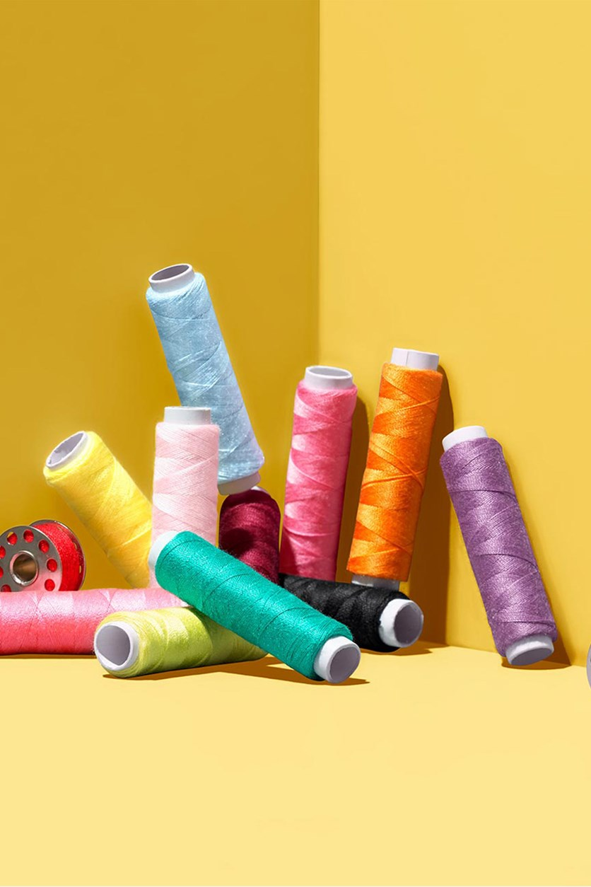 Sewing Thread Set, Yellow Combo