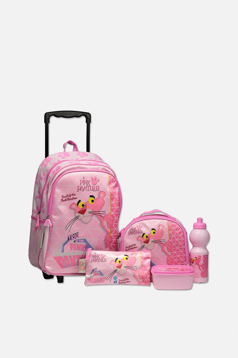 Trolly Pink Panther Back to School 5 In 1 Promotion Set, Pink Combo