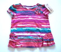 Epic Threads Girls Shirt, Short Sleeve Print Berry Cool