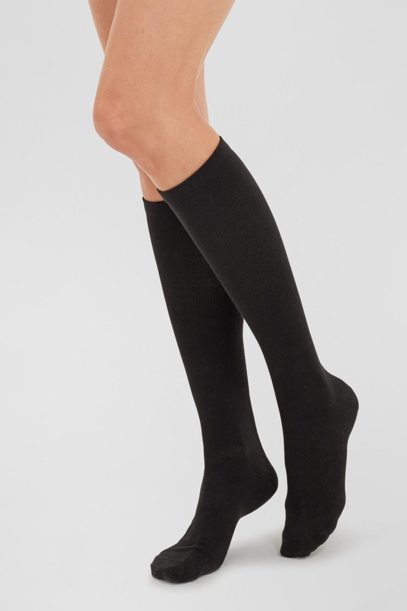 Women's Double Supporting Knee Socks, 2 pairs