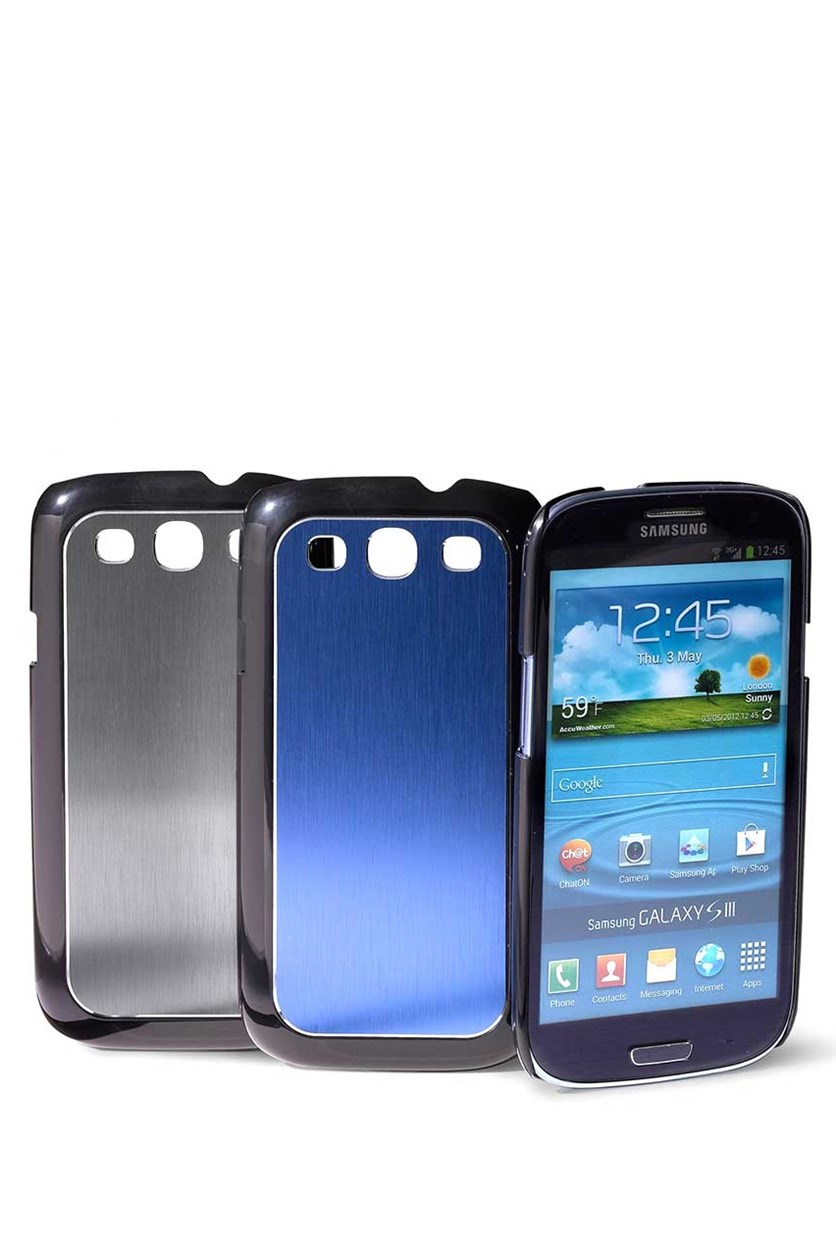 Case for Samsung S3, Metal, Blue