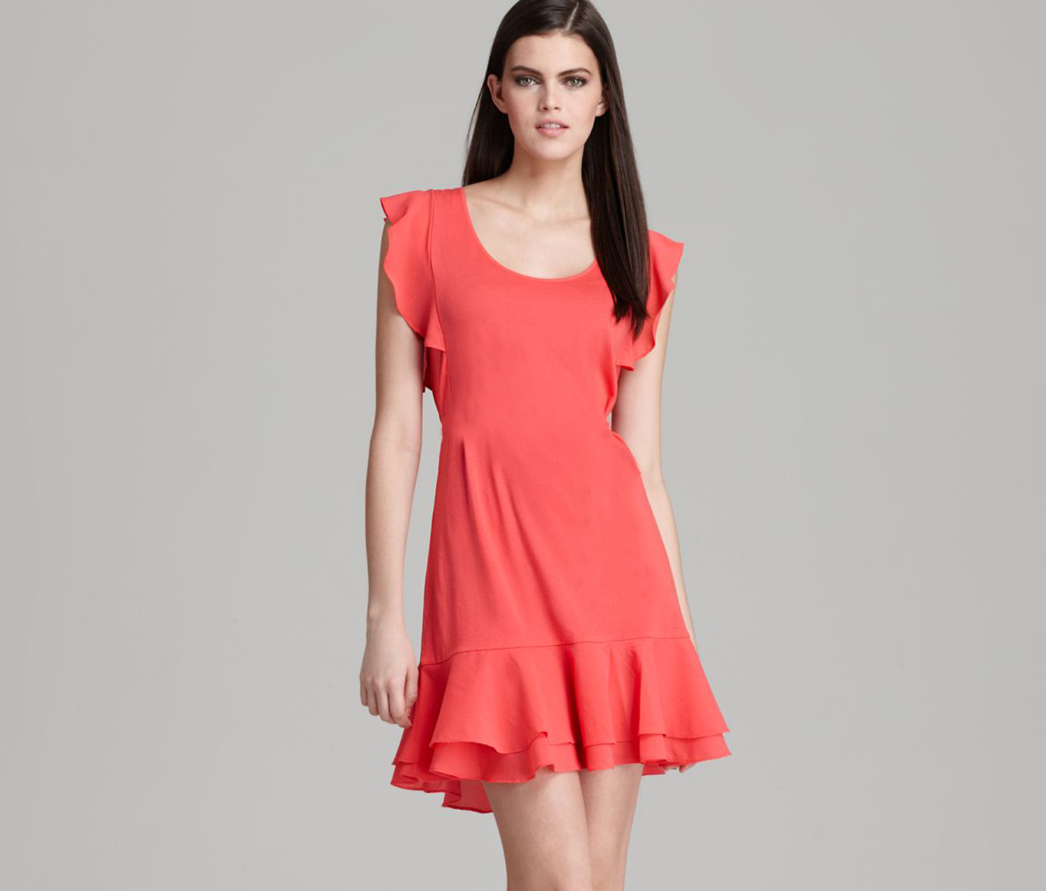 womens 71qh9 dress coral pink brands for less