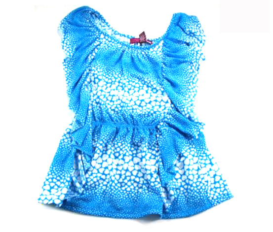Epic Threads Girls Top, Heart Print Paradise Blue
