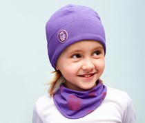 Beanie and Scarf Set, Lilac