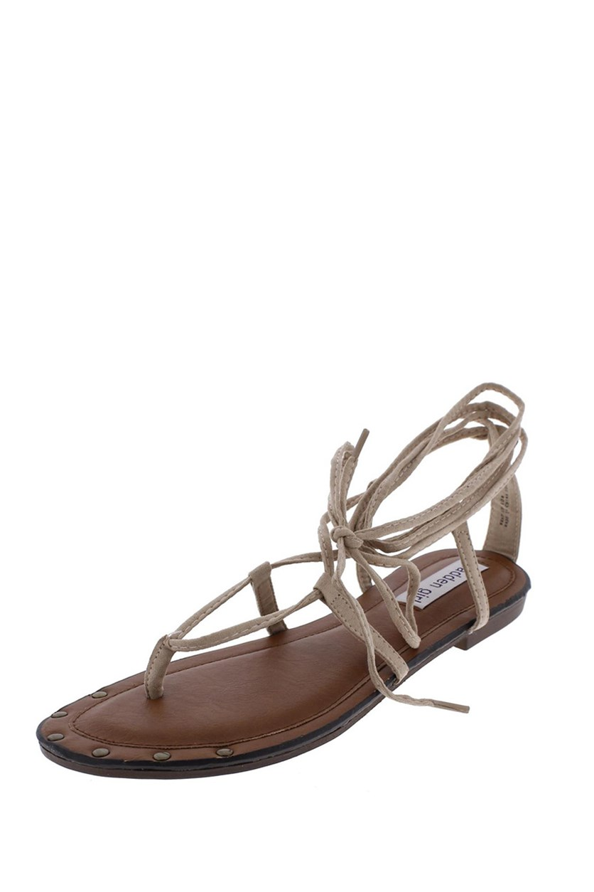 Wrap Up Gladiator Sandals, Tan