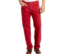 Levis 569 Loose Straight-Fit Jeans, Red Bull Denim