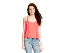 Mossimo Loose Knit Tank, Blazing Coral
