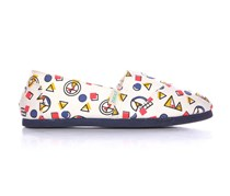 Paez Toddlers Or Girls Slip On Shoes, White/Navy