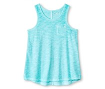 Kids Girl Cherokee Pocket Tank Top, Mint
