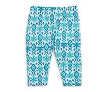 Capelli New York Little Girl's Geometric Capri Leggings, Aqua