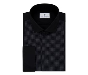 Ryan Seacrest Distinction Slim-Fit Non-Iron Dress Shirt, Black