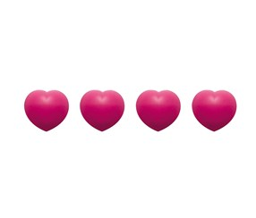 Zak! Design Heart Pot Setters 4 Pieces, Fuchsia