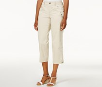 Tab-Pocket Capri Pants, Stonewall