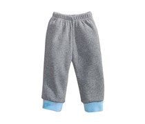 First Impressions Jogger Pants with Faux-Fur Hems, Pewter Heather