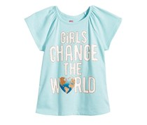 Epic Threads Mix and Match Girls Change The World Graphic-Print T-Shirt, Thick Glass Blue