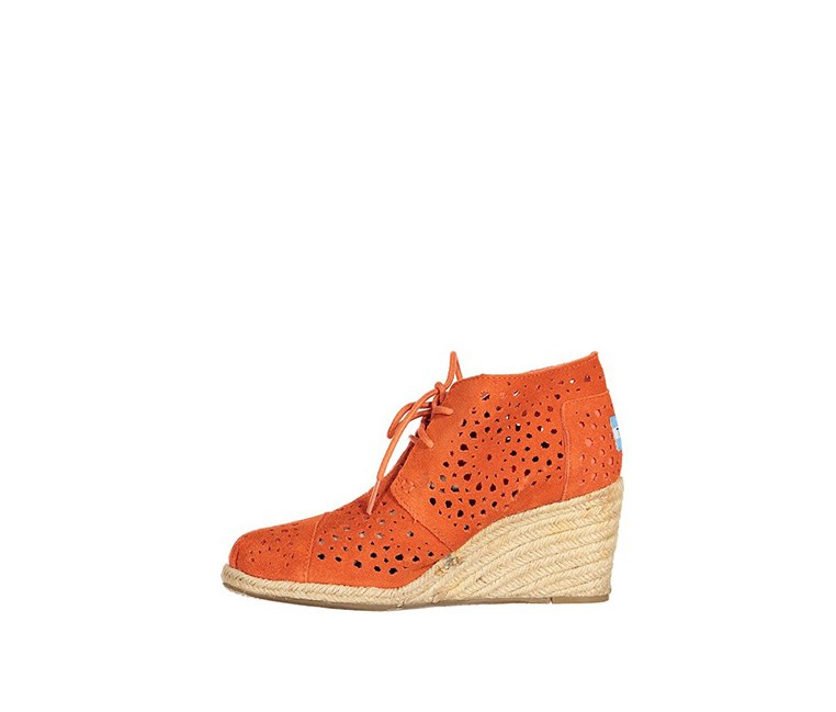 Women's Desert Wedges, Orange Moroccan