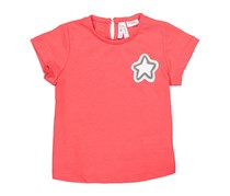 Lefties Girls Patch Star Tops, Red